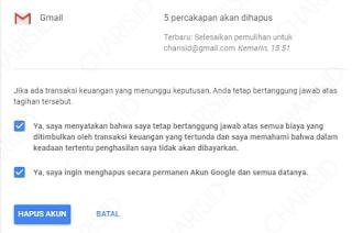 Cara menghapus Akun Gmail Permanen Dari Hp