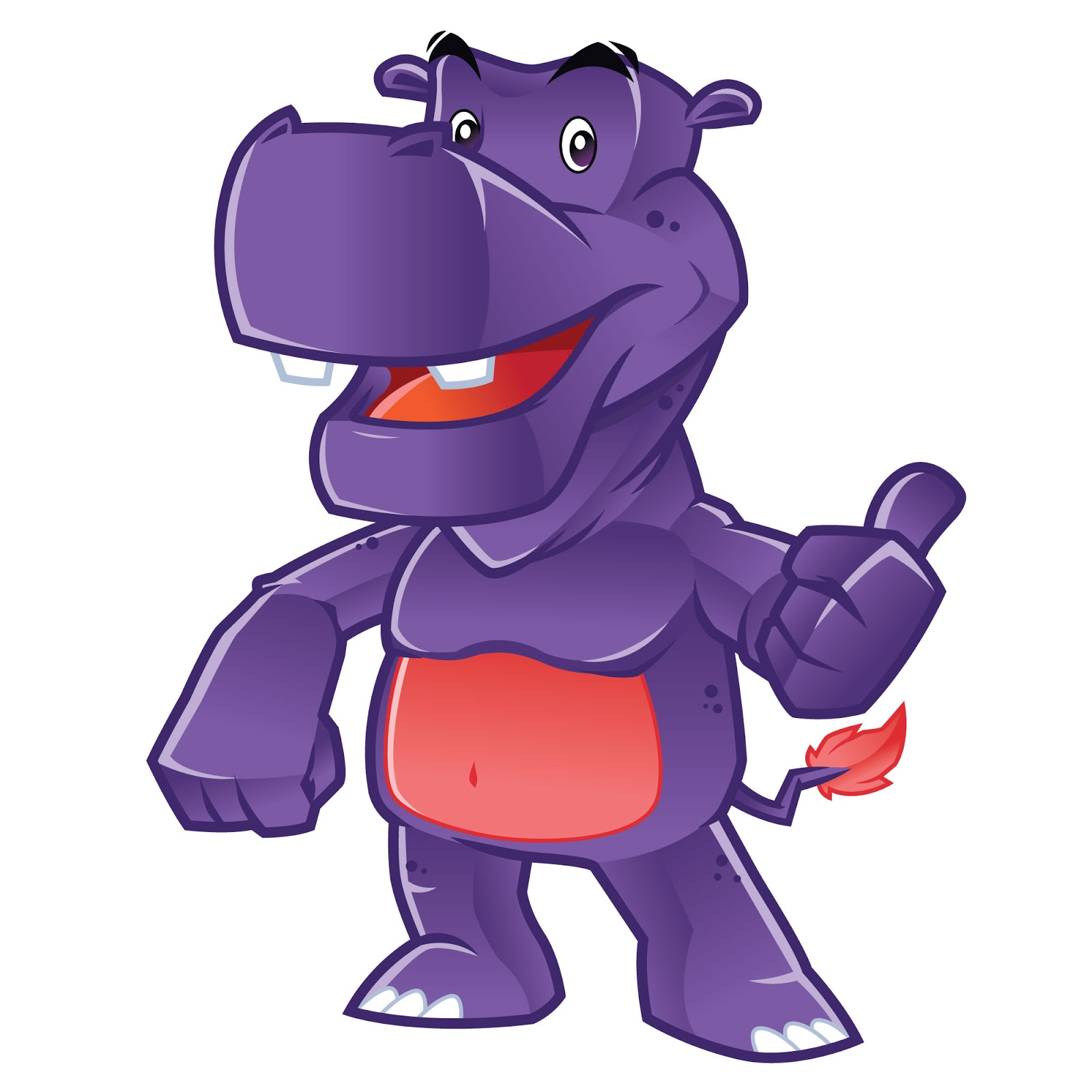 Hippo Character Free Download Vector CDR, AI, EPS and PNG Formats