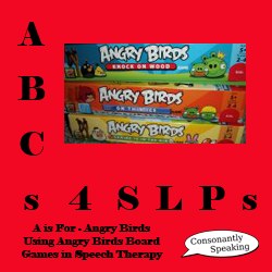 ABCs 4 SLPs: A is for Angry Birds - Using Angry Birds Board Games in Therapy image