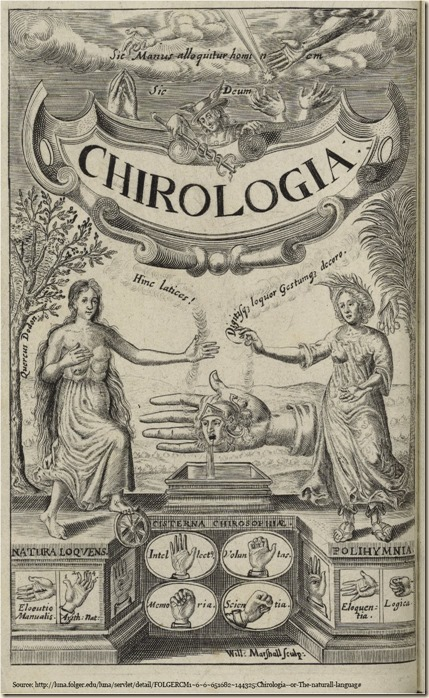 Bulwer Chirologia eloqentia logica title page