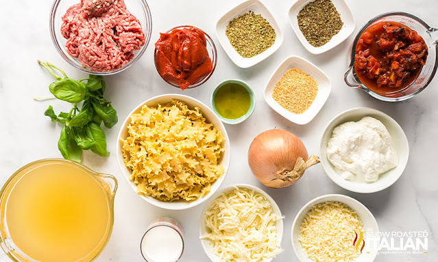 easy lasagna soup ingredients