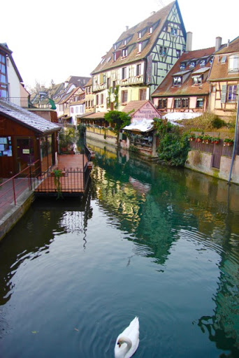 Then the sun and the swan came out; Colmar