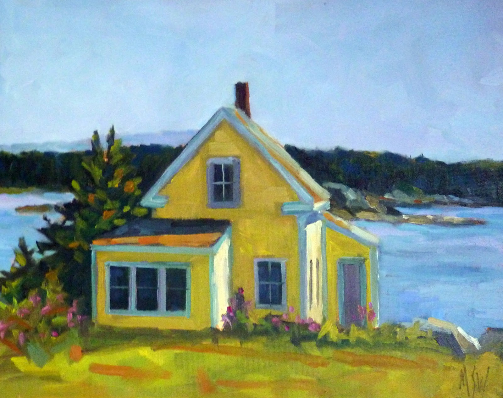 Just Painting Maine Cottage