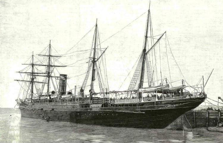 El ALFONSO XIII en estado de origen. Grabado de La Ilustracion Española y Americana. Año 1898.jpg