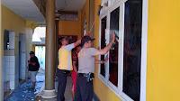 Peringati HUT Bhayangkara ke-73, Polsek Paguyangan bersih-bersih masjid