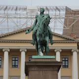 Bij het Koninklijk Paleis in Oslo