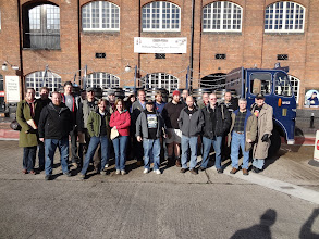 Photo: Here's the whole group of 21 real ale fans at the National Brewery Centre in Burton-Upon-Trent.