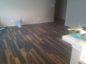 Photo: DalTile  porcelain tile wood look