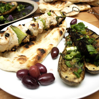 Yogurt and Coriander Chicken Kebabs