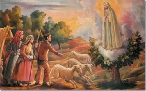 N. S. de Fátima e os pastorinhos