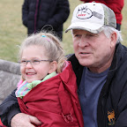 Grandpa and Kendall at Taylor's soccer game