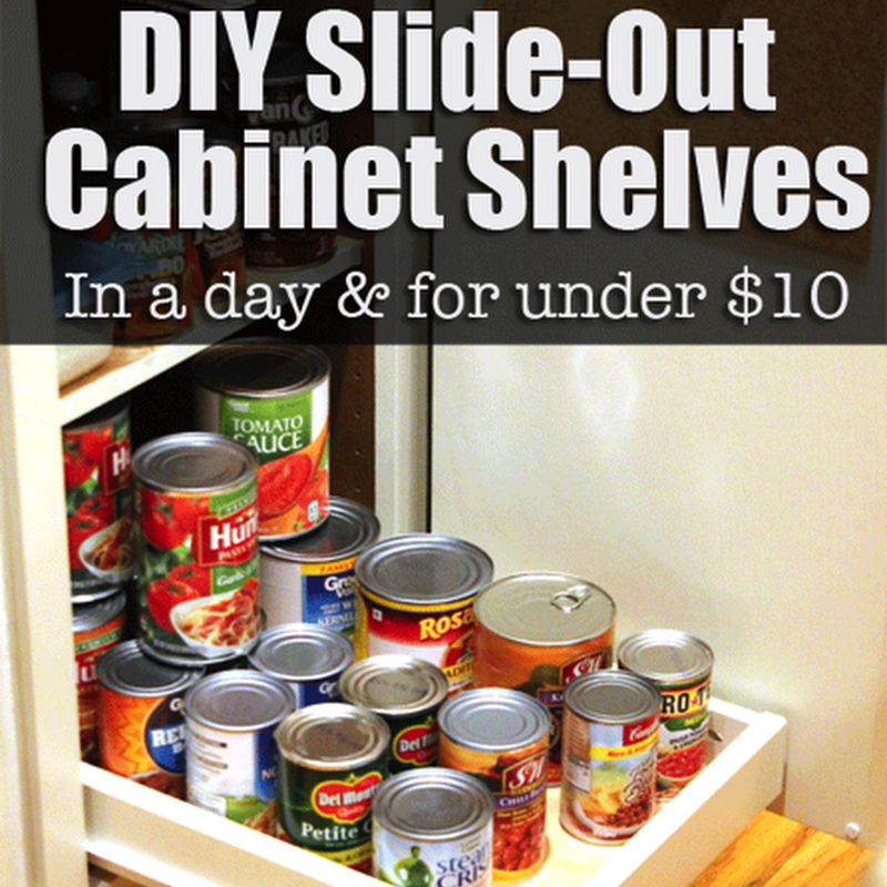 Organize Your Pantry with DIY Slide-Out Cabinet Shelves ...