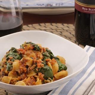 Orecchiette with Veal, Porcini & Spinach