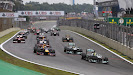 Start of the 2013 Brazilian F1 GP - Rosberg into 1st corner