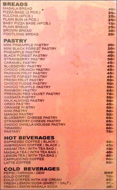 Creme N Crisp menu 3