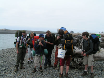Gathering at the mouth of the Hoh River