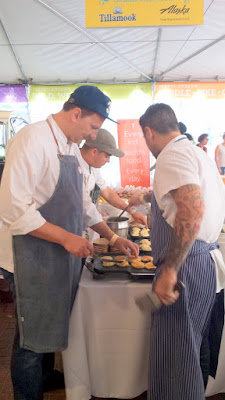 Brunch Village at Feast 2015 - Andrew Carmellini of Locanda Verde from New York offered Lemon Ricotta Pancakes