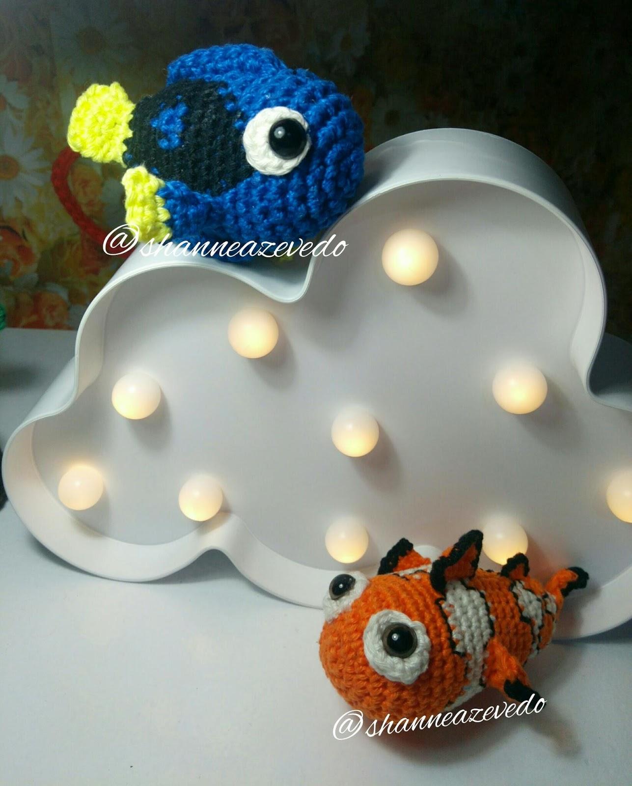 Nemo crochet pattern, clownfish with coral PDF ternura amigurumi ... | 1600x1287