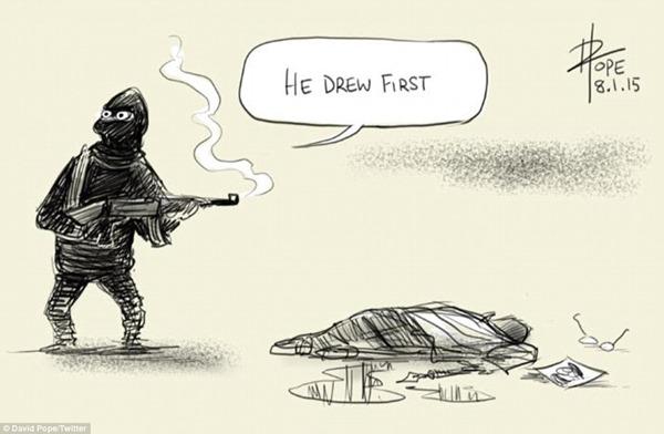 muhammad cartoon drew first