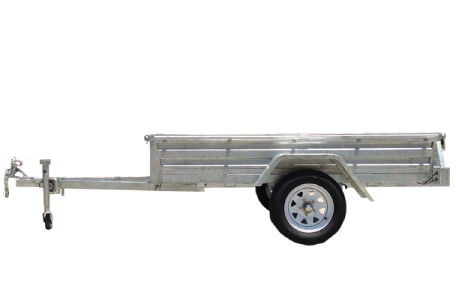 7 x 4 Galvanised Box Trailer Bolt On Sides Tiltable