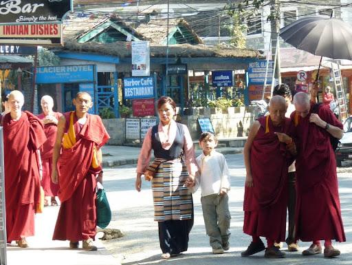 Lama Zopa Rinpoche visits Ganden Yiga Chozin Buddhist Meditation Centre in Pokhara, Nepal, February 2012. Photo courtesy of Gaden Yiga Chozin.