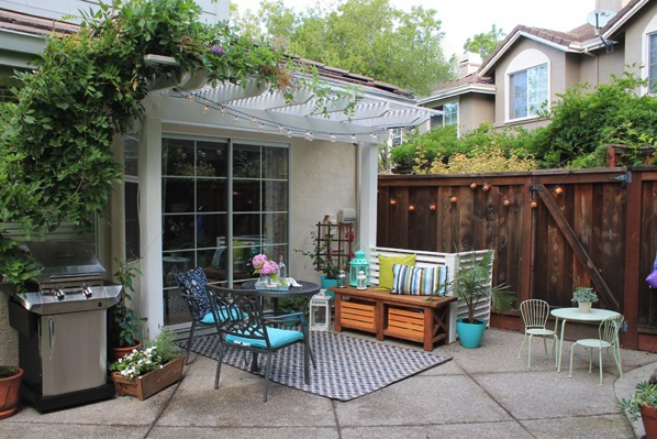 Backyard makeover outdoor living room