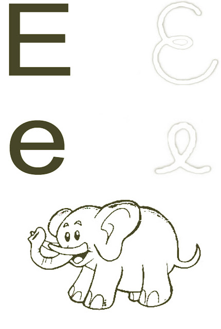 Alfabeto Ilustrado Para Pintar
