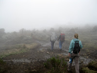 Kili Climb Day 2 - The clouds moved in for a few hours