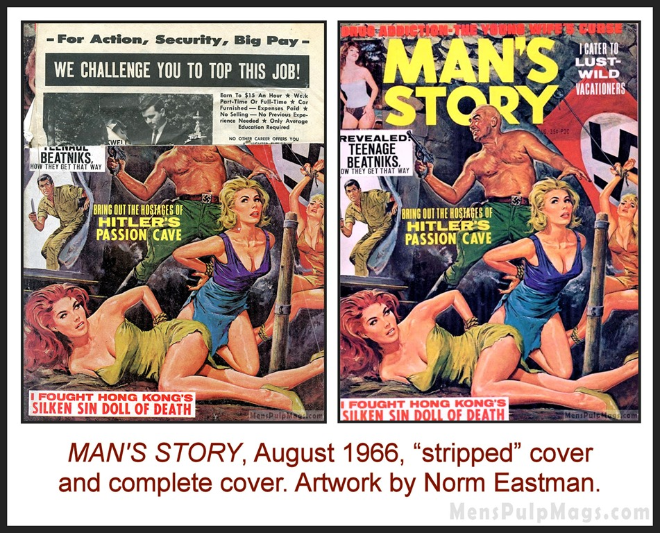 [MAN%27S+STORY%2C+August+1966%2C+cover+by+Norm+Eastman%5B10%5D]