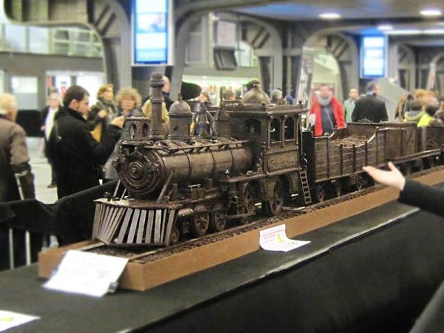 チョコレートの汽車@ブリュッセル南駅