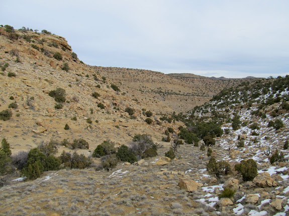 Valley leading to Little Park Wash