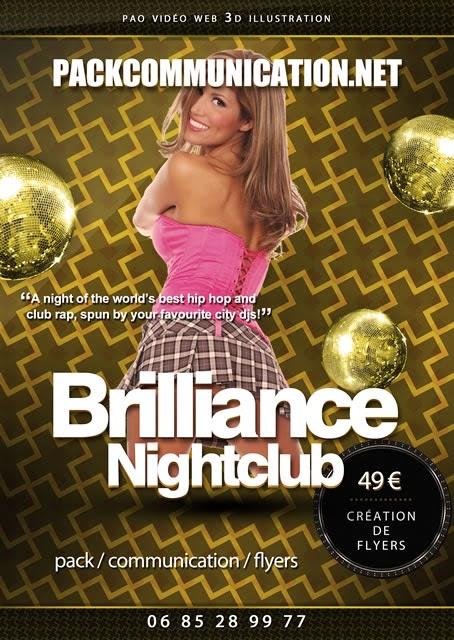 création flyer soirée thème Brillance Nightclub Hip Hop