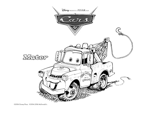 Cars Mcqueen Sally Mater Printable Coloring Page Ecoloringpage