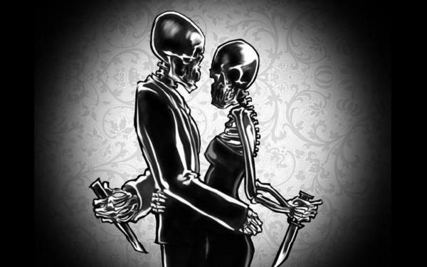 Two Skeletons Love And Danger, Magick Lovers