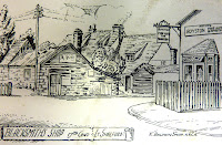 Blacksmith's workshop and Prince Regent (now Sycamore House) from Church Street, Little Shelford