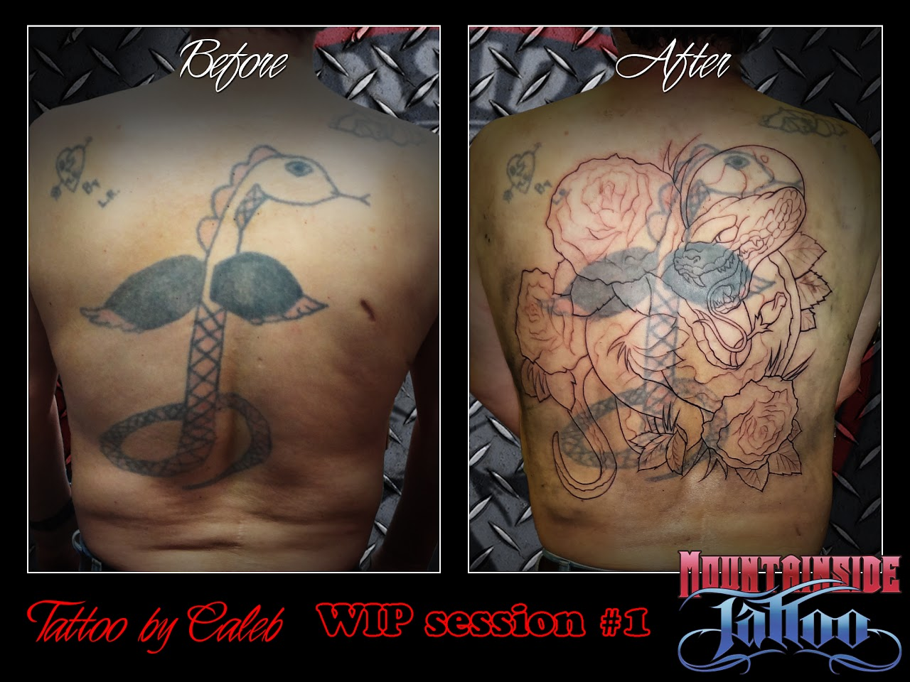 Mountainside tattoo and piercing cover up tattoos for Tattoo parlors in vermont