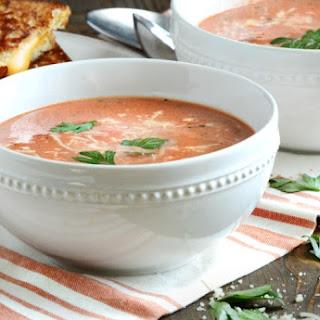 Easy Creamy Tomato Basil Soup