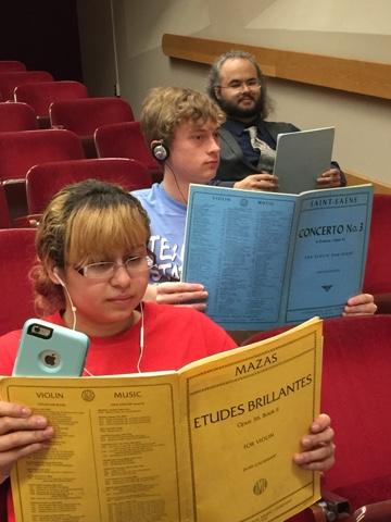 listening students