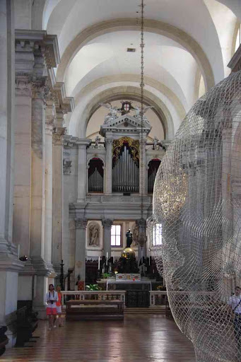 Intérieur de la basilique Saint-Georges (San Giorgio Maggiore).