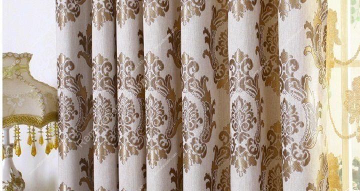Rèm vải đẹp hà nội họa tiết đơn giản 14