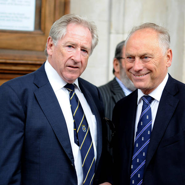 Rod Bransgrove and Colin Graves attend the memorial Service for Tony Greig, in London, on June 24, 2013.