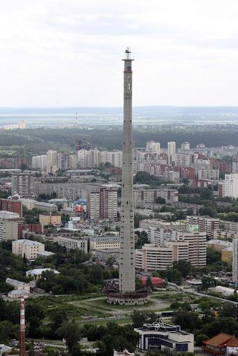 A torre abandonada de Ecaterimburgo