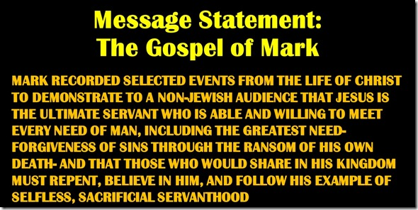 Mark Message Statement