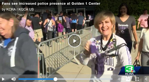 www.kcra.com/article/kings-increase-security-at-golden-1-center-due-to-protests/19637288  30 seconds into video