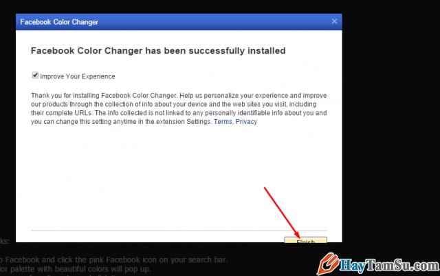 cài đặt thay đổi giao diện facebook