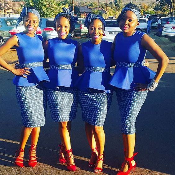 Tswana Traditional Dresses For Bridesmaids 2017 2018