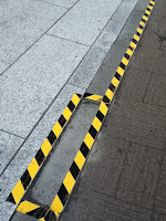 crack on the street by the earthquake in Japan