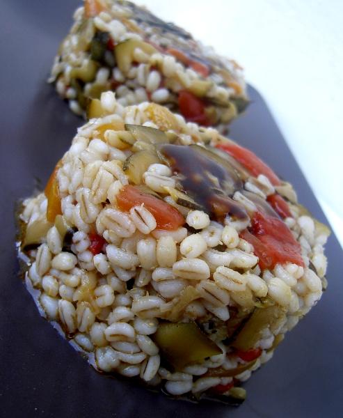 orzo perlato con zucchine e peperoni