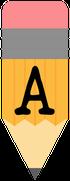 Pencil-alphabet-Banner-A