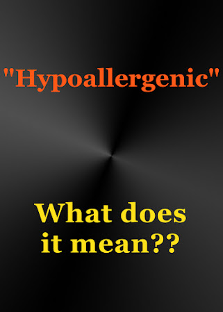 "What does ""Hypoallergenic"" mean?  Find out more!"